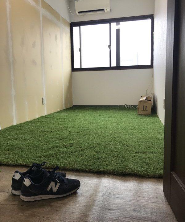 事務所DIY_人工芝